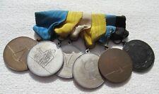 Suecia Orden Bijou Ordensspange con 6 Medallas Francmasones? Freemason?
