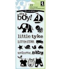 Inkadinkado Clear Stamps BABY BOY 97605 SO CUTE!!!