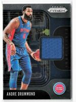 2019-20 Panini Prizm Sensational Swatches Jersey Andre Drummond Game Used Worn