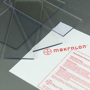 MAKROLON (32-216€/m²) LEXAN 2 - 15 mm POLYCARBONAT GLAS SCHEIBE GLASKLAR STARK