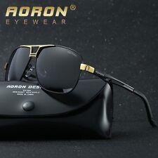 Marke Herren Mode HD Polarisiert Fahren Sonnenbrille Metall Pilotenbrille Brille