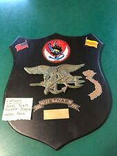 very rare original navy seal Vietnam war Trident plaque to named colonel Kenneth