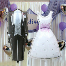 Bride and Groom Dress Shape Foil Helium Balloons Wedding Decor Supplies ODCACA