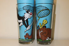 1976 Tweety Bird Drinking Glasses Looney Tunes Pepsi Warner Collector's Series