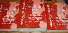 2011 Ford Fusion Mercury Milan Lincoln MKZ Shop Service Manual Volume 1 2 3 Set
