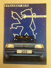1983 Peugeot 205 Informational Booklet - With Specifications!