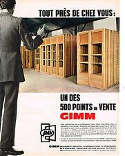 PUBLICITE   1967   MENUISERIES GIMM  500 points de vente