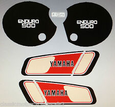Yamaha Xt500 xt500d 1977 Pintura Decal Set