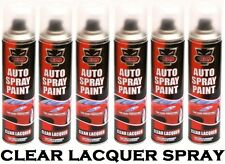 6 x Clear Lacquer Aerosol Spray Cans 250ml Cars & Vans Auto Spray Paint **New**
