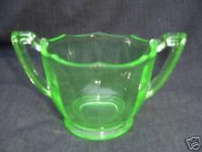 Elegant Depression Glass Green Paden City Sugar Bowl