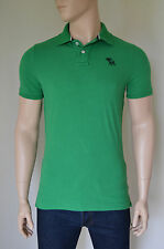 NUOVO ABERCROMBIE & FITCH Baker Mountain POLO VERDE BLU MOOSE XL RRP £ 72
