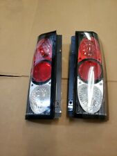 LEFT & RIGHT TAILLIGHTS FOR CHEVY ASTRO VAN 85-04 CARBON FIBER IMITATION TYC...