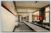 Webster City Iowa~First National Bank Interior~Teller Cages~Banker Desks~c1910