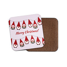 Cute Merry Christmas Coaster - Xmas Elves Gnomes Festive Winter Fun Gift #14727