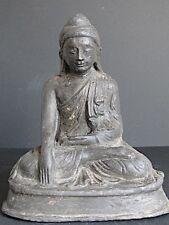 ANTIQUE Bouddha en Bois et Laque de Mandalay BIRMANIE