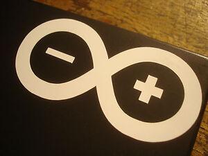 2x Arduino Vinyl Laptop Sticker - White - Opensource Openhardware Linux