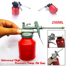 1x 250ml Red Universal Metal High Pressure Pump Oiler Oil Can Gun For Lubricants