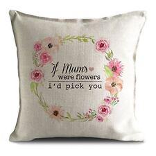 Día de las madres si las madres fueron Flores cita Frase Cojín Funda De Almohada - 16 in (approx. 40.64 cm)