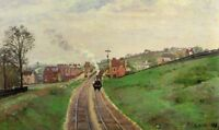 Oil painting Camille Pissarro Lordship Lane Station East Dulwich Impressionism