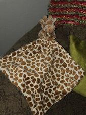 Little Jellycat Plush Baby Giraffe Security Blanket Lovey Brown Stuffed Rare