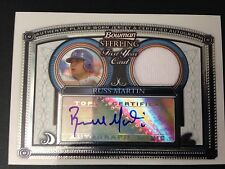2005 TOPPS BOWMAN STERLING RUSS RUSSELL MARTIN RC ROOKIE AUTO #BS-RM JERSEY