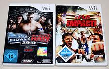 2 WII SPIELE SET - SMACKDOWN VS RAW 2010 & TNA IMPACT - NINTENDO WRESTLING ECW