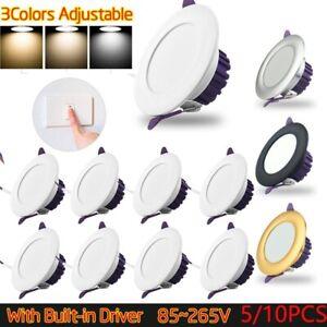 5/10pcs 7w Dimmable LED Downlight Recessed Ceiling Light Spotlight 110v/220v