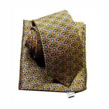 CRAVATTA misura classica RASO di SETA e pochette UOMO silk soie seide Made Italy