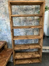 Rustic chunky Bookcase made from reclaimed boards