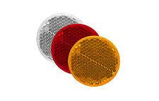 REFLECTOR TRUCK/TRAILER/CARAVAN - RED S/Adh - Round 80mm Diam - Like Narva 84022