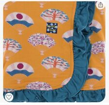 New listing New Kickee Pants Ruffle Toddler Blanket in Apricot Fans (2018)