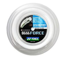 Genuine Yonex BG66F Badminton String BG 66 Force 200m - Reel White - Free UK P&P