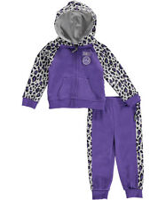 Trukfit Girls All Over Printed Fleece Set Jacket Pants Outfit Size 6