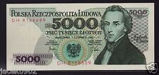 5000 ZL - zloty/złotych - POLAND/POLEN/POLSKA-1982 - F.CHOPIN -P-150a -UNC