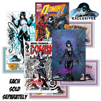 DOMINO #1A,1B,1C,1D SIGNED BY J. SCOTT CAMPBELL ~ JSC Exclusive w/COA