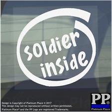 1 x SOLDATO all'interno-Finestra, Auto, Furgone, STICKER, SEGNO, veicolo, Adesivo, Militare, Esercito