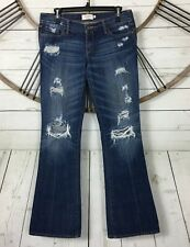Abercrombie & Fitch Jeans Destroyed Flare Distressed Size 4 Inseam 32.5 inches