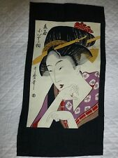 GEISHA Kona Bay Japanese Lady Fabric Panel Craft Quilting