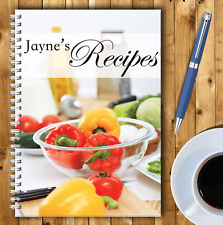 A5 PERSONALISED RECIPE PLANNER, WRITE YOUR OWN RECIPES,HEALTHY RECIPE BOOK,02