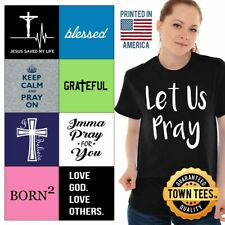 Church Tee Shirt Religious T-Shirt Mens Lord TShirts Bible T Shirt For Womens