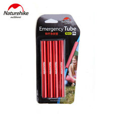 4pcs Red Outdoor Camping Tent Emergency Pole Repair Tube Kits diameter 10.9mm