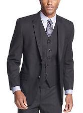 $275 Sean John Men's Black Tonal Stripe 40/Long Classic Fit Blazer Sportcoat