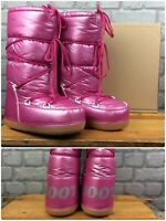 CALZAT PINK SHINY MOON BOOTS SNOW WINTER RRP £39 VARIOUS SIZES CHILDRENS GIRLS *