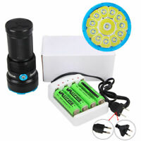 Rechargeable VASTFIRE 50000LM 12 XM-L T6 LED Flashlight Torch Light Lamp 4*18650