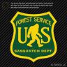 US Forest Service Sasquatch Dept Sticker Die Cut Vinyl bigfoot big foot hiking