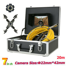 7 20m Pipe Inspection Video Camera Hd Drain Sewer Pipeline Industrial System