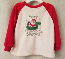 Absorba Boys Girls Multi Color Merry Christmas Fleece Shirt Top Size 18 Month