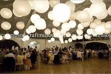 70 Pieces White Paper Chinese Lantern LED Party Set 10 12 16 18 20 in.
