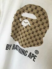 Very Rare Bape By A Bathing Ape Monogram Bape Face T-shirt Medium