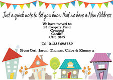 PERSONALISED  CHANGE OF ADDRESS / NEW HOME / MOVING HOUSE CARDS X 10